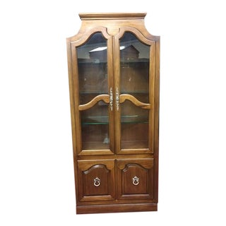 Vintage French Pagoda Style Curio Cabinet For Sale