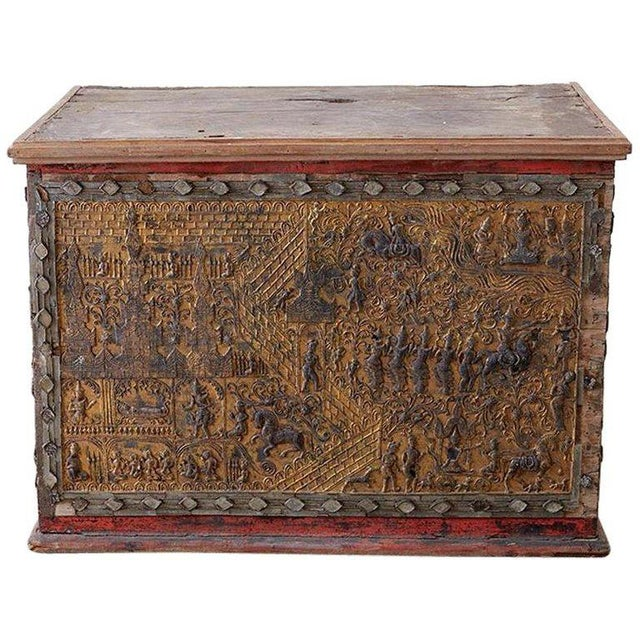 19th Century Burmese Gilded Chest or Trunk Table For Sale - Image 13 of 13