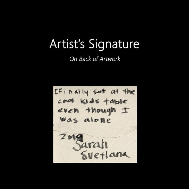 "Sarah Svetlana ""Finally Sat at the Cool Kids Table"" Original Painting For Sale - Image 9 of 9"