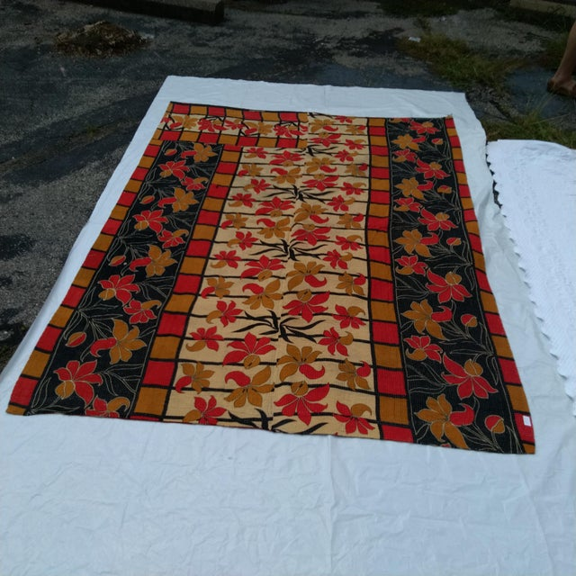 Vintage Indian Reversible Sari Quilt For Sale - Image 4 of 6
