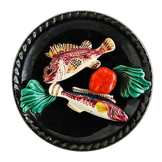 French Trompe l'Oeil Fish Plate