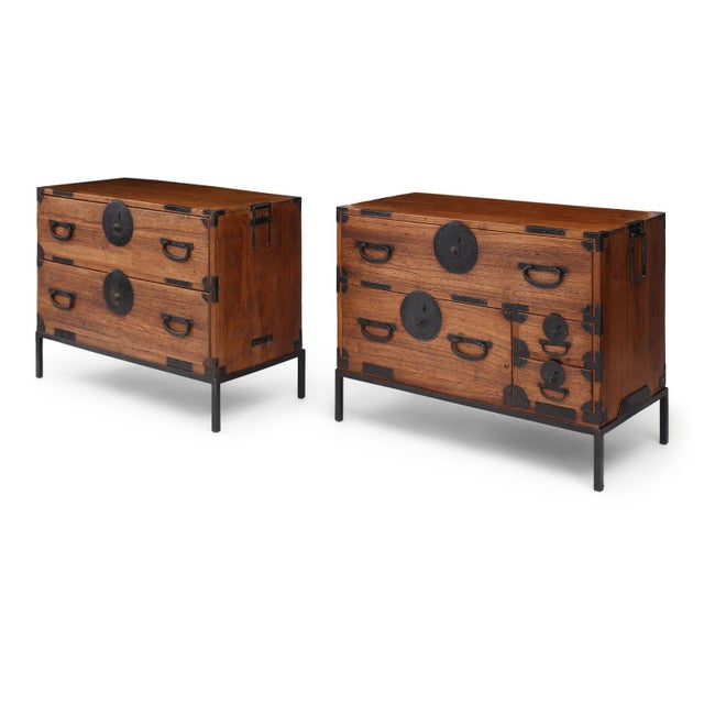 Pair of Tansu Bedside Tables For Sale - Image 13 of 13