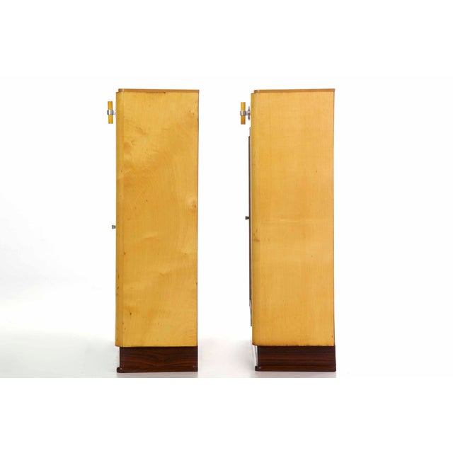 Art Deco Art Deco Birch & Rosewood Vitrine Bookcase Cabinets circa 1930 - A Pair For Sale - Image 3 of 11