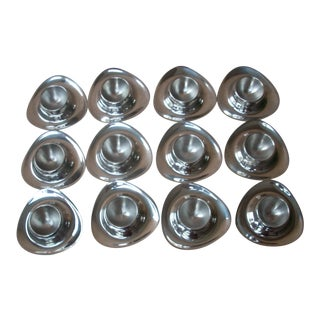 Aluminum Egg Cup Servers - Set of 12 For Sale
