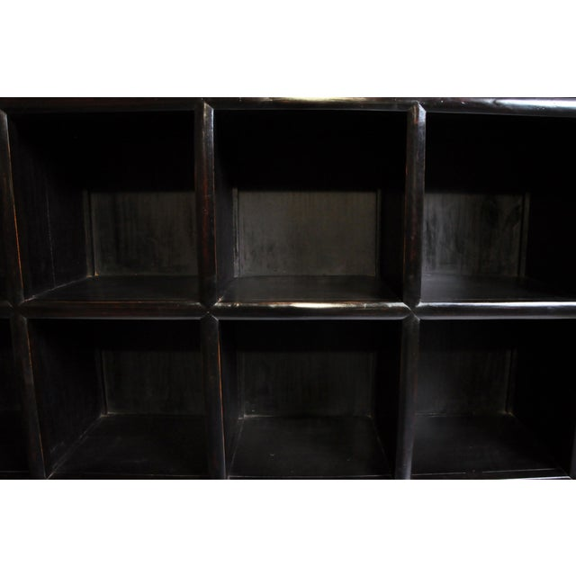 Brown Impressive Chinese Display Cabinet With Twelve Drawers For Sale - Image 8 of 13