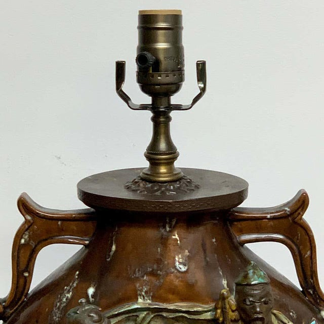 Marcello Fantoni Fantoni Chinoiserie Pottery Lamp For Sale - Image 4 of 11
