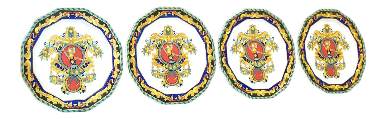 sc 1 st  Chairish : decorative plate sets of 4 - pezcame.com