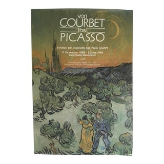 "Vintage German ""Von Courbet to Picasso: Treasures of the Museums of Sao Paulo"" Exhibit Poster For Sale"