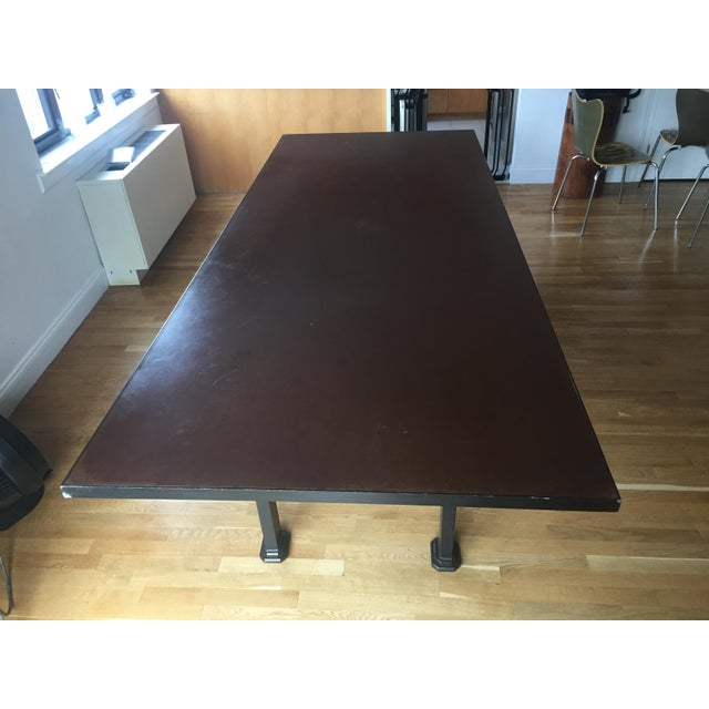 Industrial Steel & Cast Iron Dining Table - Image 5 of 5