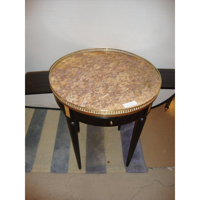 Louis XVI Style Bouillotte End Tables - A Pair For Sale - Image 4 of 11