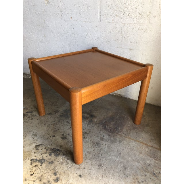 Vintage Mid Century Danish Modern End Table. For Sale - Image 10 of 10