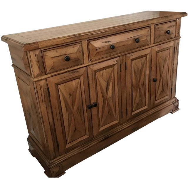 High End Custom Wooden Buffet Table by Lorts - Image 1 of 7