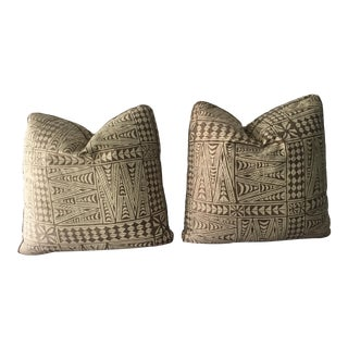 Square Fortuny Pillows - a Pair For Sale