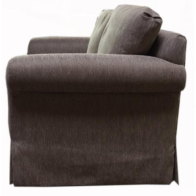 Modern Newly Upholstered 2016 Love Seat With New Cushions For Sale - Image 3 of 6