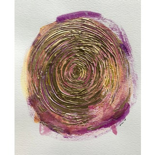"""Modern Original """"Cosmic Spiral"""" Mixed Media by Christy Almond For Sale"""