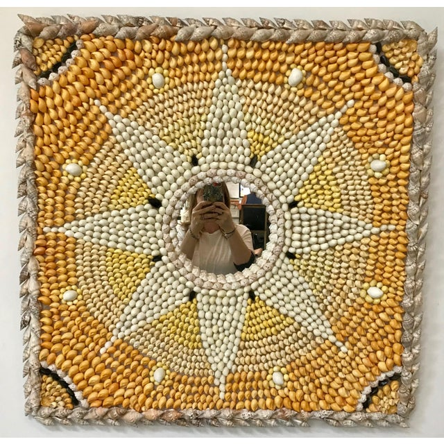 Boho Chic - Sunburst Shell Mirror For Sale In Los Angeles - Image 6 of 9