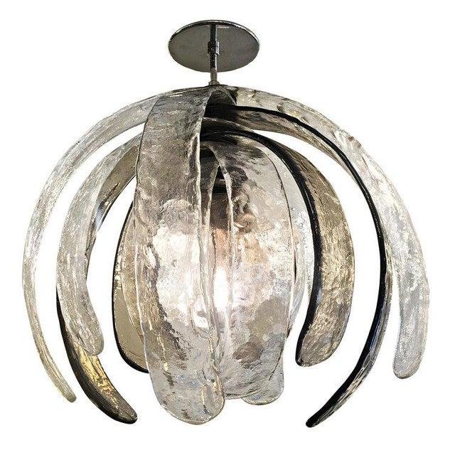 Artichoke Murano Glass Chandelier by Mazzega - Image 2 of 6