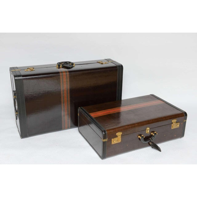 Gorgeous Pair of Vintage Italian Suitcases For Sale - Image 9 of 13