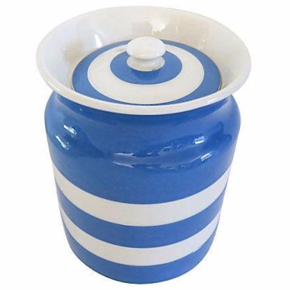 Vintage English Cornishware Canister - Image 1 of 2