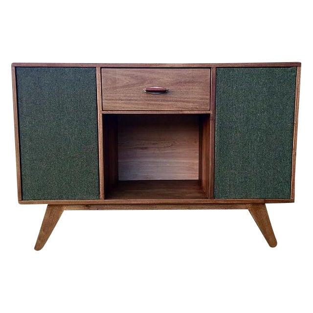 Mid-Century Modern Vinyl Record Console Credenza - Image 1 of 7