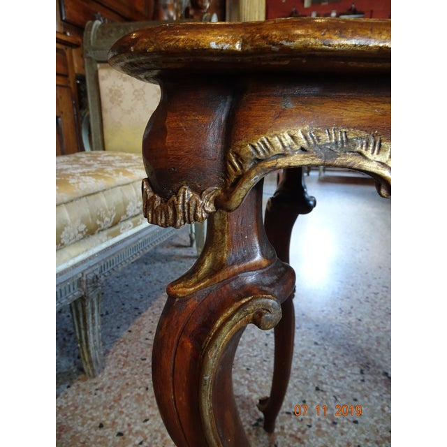 Wood 19th Century Portuguese Side Table For Sale - Image 7 of 11