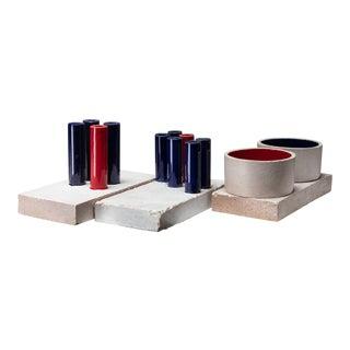 Set of Three Tubi/Tubi Centerpieces by Ambrogio Pozzi For Sale