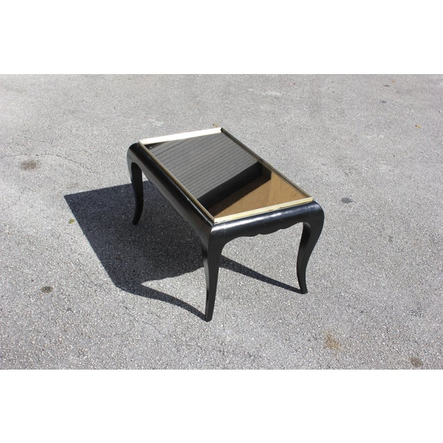 1940s French Art Deco Ebonized Coffee Table For Sale - Image 11 of 13