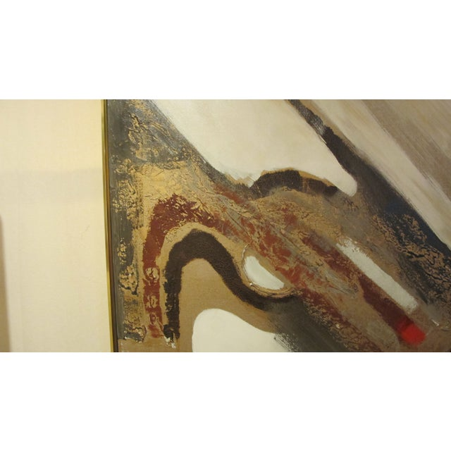 1970s Listed Artist Lee Reynolds Abstract Painting For Sale - Image 5 of 6