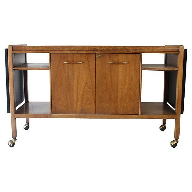Mid-Century Modern Bar Cart or Serving Cart - Image 1 of 7