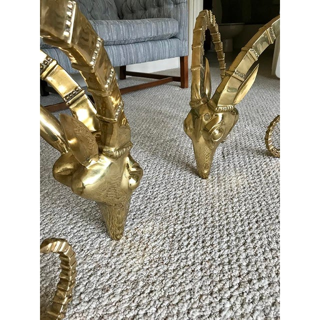 Brass Ram Base Coffee Table - Image 4 of 6