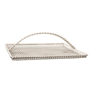 Mathieu Mategot Serving Tray in Enameled Perforated Metal, France 1950s For Sale