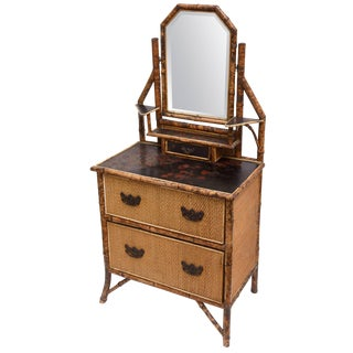 19th Century English Bamboo Dresser For Sale