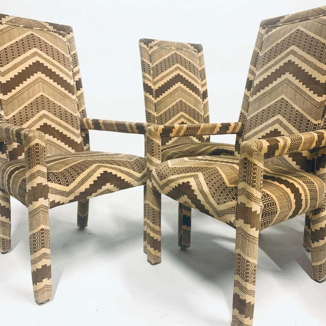 Stunning set of 6 dining chairs by Flair Furniture. These would be fabulous with a Paul Evans dining table or any 1970s...