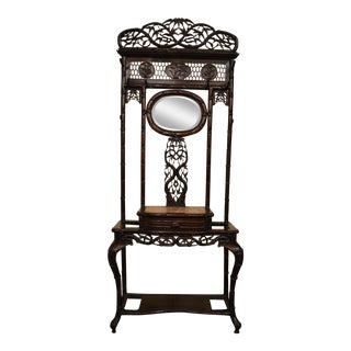 Antique Chinese Teakwood Porte-Manteau (Hall Tree) circa 1880 For Sale