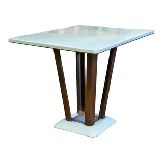 Porcelain Enamel on Iron Rectangular Art Deco Table, circa 1930