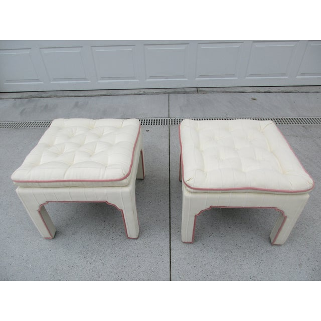 Parsons Style Stools or Footstools -A Pair - Image 6 of 10