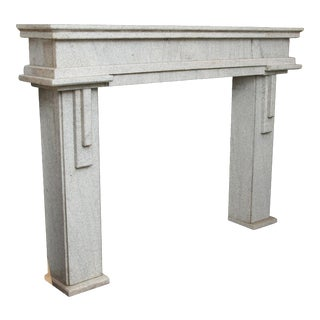 Geometric Design Granite Mantel