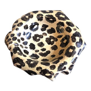 Italian Cheetah Catchall Dish For Sale