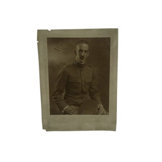 "Black & White ""World War 1 Soldier"" Photograph For Sale"