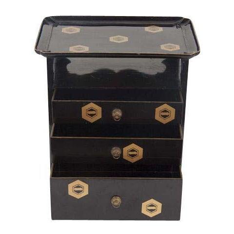 Japanese Lacquer Cosmetics Cabinet For Sale - Image 13 of 13