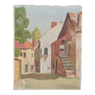 1933 Impressionist Italian Cityscape For Sale
