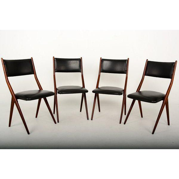 Set of Four Mid-Century Italian Armchairs For Sale - Image 4 of 6