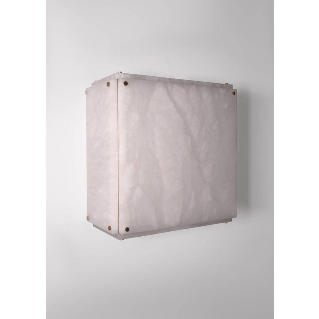 Contemporary Modern Contemporary 001a Flush Mount in Alabaster by Orphan Work For Sale - Image 3 of 10