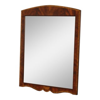 Regency Style Mahogany Beveled Inlaid Wall Mirror For Sale