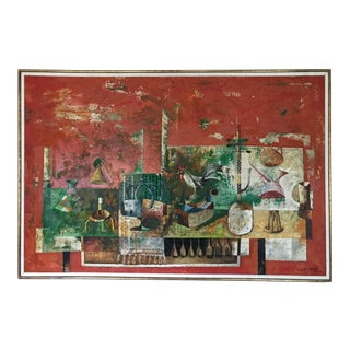 Large Scale Surrealist Painting by Jose Lapayese Del Rio, 1971 For Sale