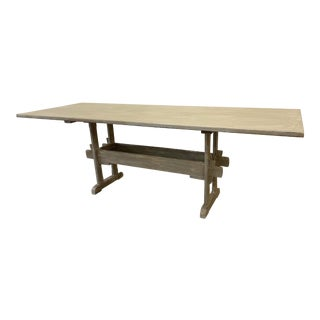 Swedish Painted Trestle Dining Table For Sale