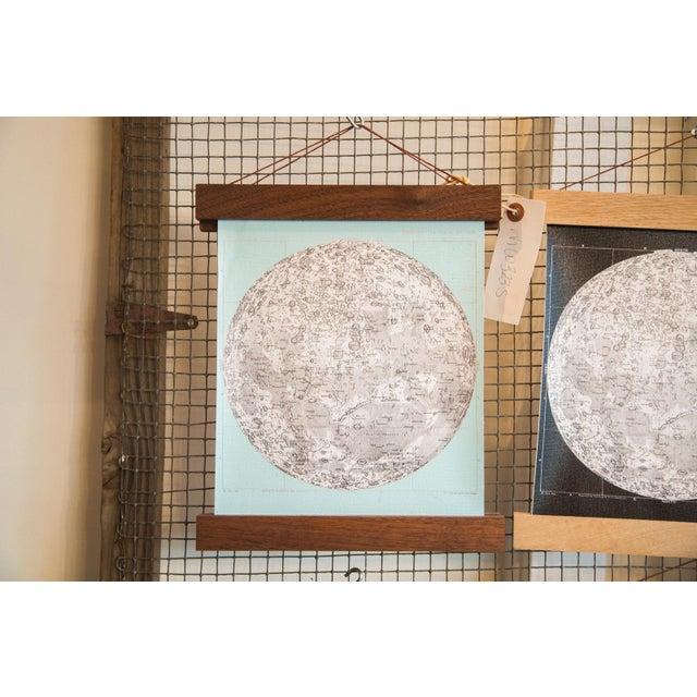 Aqua Mini Moon Chart Art Print - Image 2 of 6