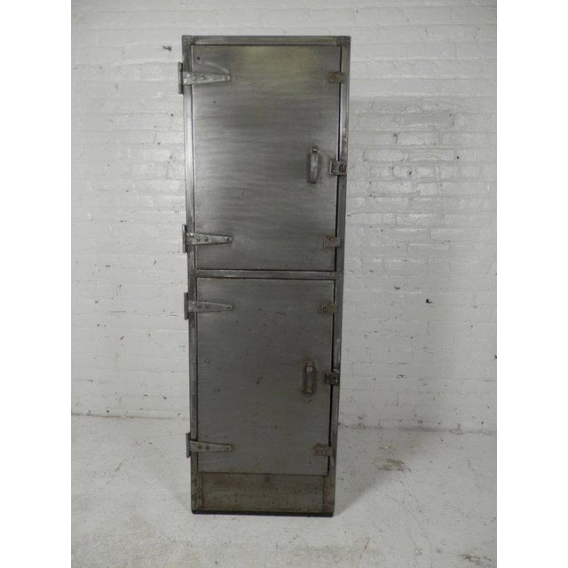 Industrial Metal Mid-Century Two Door Locker For Sale In New York - Image 6 of 6