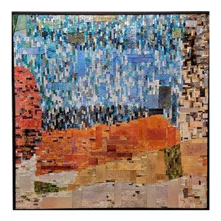 Contemporary Mia Perdomo Hand-Made Square Glass Mosaic For Sale