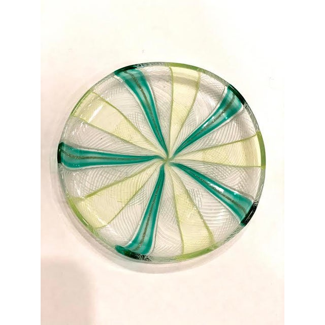 Murano Vintage Murano Art Glass Dish For Sale - Image 4 of 6